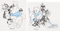 Animation Art:Concept Art, Mike Royer Winnie the Pooh Consumer Product Concept Art Group of 2 (Walt Disney, 1990's). ... (Total: 2 Original Art)
