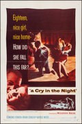 "Movie Posters:Crime, A Cry in the Night (Warner Brothers, 1956). Folded, Fine/Very Fine.One Sheet (27"" X 41""). Crime.. ..."