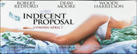 "Indecent Proposal (Paramount, 1993). Rolled, Very Fine-. Vinyl Banner (120"" X 47""). Drama"
