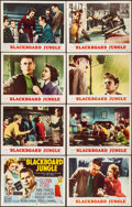 "Movie Posters:Drama, Blackboard Jungle (MGM, 1955). Overall: Very Fine. Lobby Card Setof 8 (11"" X 14""). Drama.. ... (Total: 8 Items)"