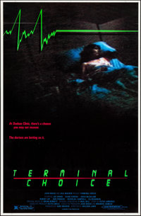 """Terminal Choice (Almi Pictures, 1985). Rolled, Overall: Very Fine-. One Sheets (95) Identical (27"""" X 41"""") SS..."""
