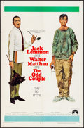 "Movie Posters:Comedy, The Odd Couple (Paramount, 1968). Folded, Fine/Very Fine. One Sheet(27"" X 41"") Robert McGinnis Artwork. Comedy.. ..."