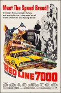 """Movie Posters:Sports, Red Line 7000 (Paramount, 1965). Folded, Fine/Very Fine. One Sheet (27"""" X 41""""). Sports.. ..."""