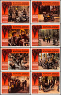 """Movie Posters:Exploitation, The Wild Angels (American International, 1966). Very Fine-. Lobby Card Set of 8 (11"""" X 14""""). Reynold Brown Border Artwork. E... (Total: 8 Items)"""