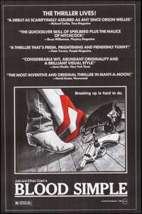 """Blood Simple (Circle Films, 1984). Rolled, Very Fine. One Sheets (58) Identical (24.25"""" X 36.75""""). Thriller..."""