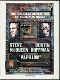 """Movie Posters:Drama, Papillon (Allied Artists, R-1977). Rolled, Very Fine-. Poster (30""""X 40""""). Drama.. ..."""