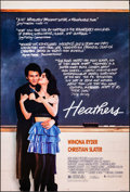 """Movie Posters:Comedy, Heathers (New World, 1989). Rolled, Very Fine-. One Sheet (27"""" X41""""). Comedy.. ..."""