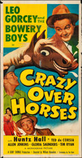 """Movie Posters:Sports, Crazy Over Horses (Monogram, 1951). Folded, Fine. Three Sheet (41"""" X 79""""). Sports.. ..."""