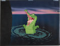 Animation Art:Production Cel, Peter Pan Crocodile Production Cel with Painted Background (Walt Disney, 1953)....