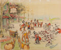 Animation Art:Concept Art, The Fox Hunt Concept/Story Drawing (Walt Disney, 1938)....
