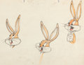 Animation Art:Production Drawing, Bugs Bunny Animator's Practice Drawing by Manny Perez (Warner Brothers, c. 1940s)....