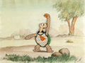 Animation Art:Production Cel, The Tortoise and the Hare Production Cel and Painted Background (Walt Disney, 1935)....