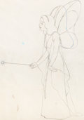 Animation Art:Production Cel, Pinocchio Blue Fairy Animation Production Drawing (WaltDisney, 1940)....