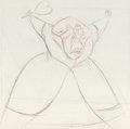Animation Art:Production Drawing, Alice in Wonderland Queen of Hearts Animation Drawing (Walt Disney, 1951). ...