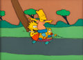 Animation Art:Production Cel, The Tracey Ullman Show - The Simpsons Bart, Lisa, and Maggie Production Cel Setup with Key Master Background (Fox, 198...