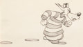Animation Art:Production Drawing, Northwest Hounded Police Wolf Animation Drawing (MGM,1946)....