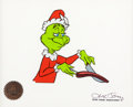 Animation Art:Production Cel, Dr. Seuss' How the Grinch Stole Christmas Blue-Eyed Grinch Production Cel (MGM, 1966)....