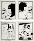 Animation Art:Production Drawing, Space Ghost and the Sorceress of Cyba-3 Big Little Book Illustrations by Dan Spiegle Original Art Group of 13 (Hanna-B... (Total: 13 Original Art)
