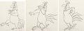 Animation Art:Production Drawing, The Slick Chick Foghorn Leghorn Animation Drawing Sequenceof 3 (Warner Brothers, 1962).... (Total: 3 Original Art)