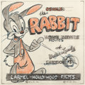 Animation Art:Concept Art, Oswald the Rabbit Home Movie Film Box Concept Drawing (Walter Lantz, c. 1950s-60s)....