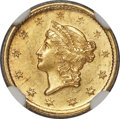 Gold Dollars, 1849-O G$1 Open Wreath MS63 NGC. Variety 1....