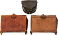 Military & Patriotic:Indian Wars, Two McKeever Cartridge Boxes and a Civil War-Era Cap Box.. ...(Total: 3 Items)