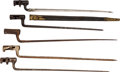 Edged Weapons:Bayonets, Lot of Five Civil War Socket Bayonets.. ... (Total: 5 Items)