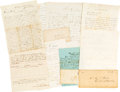 Militaria:Ephemera, Texas Related: 1863-1865 Union Soldier Documents and Letters.. ...