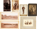 Military & Patriotic:Indian Wars, Group of 7 Mounted Photographs Featuring U.S. Military Subjects,Circa Late 19th Century.. ...