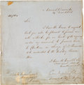 Militaria:Ephemera, [19th Century British Military Leaders] Earl of Cardigan and Fitzroy Somerset (Lord Raglan) Signed Documents and Duke of Welli...