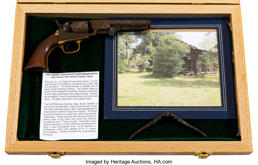 Colt M1849 and Bullet Mold: San Jacinto, Texas Relics