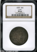 Patterns: , 1859 P50C Half Dollar, Judd-241, Pollock-297, R.4, PR62 NGC....