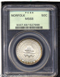 Commemorative Silver: , 1936 50C Norfolk MS68 PCGS....