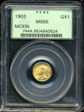 Commemorative Gold: , 1903 G$1 Louisiana Purchase/McKinley MS65 PCGS....