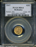 Commemorative Gold: , 1917 G$1 McKinley MS64 PCGS....