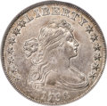 Early Dollars, 1798 $1 Large Eagle, Pointed 9, Wide Date, B-15, BB-112, R.3, AU55 PCGS....