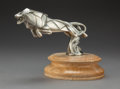 Metalwork, A Casimir Brau Nickel-Plated Bronze Leaping Lion-Form Automobile Mascot, France, circa 1925. Marks: C BRAU. 4-1/4 inches...