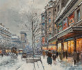 Paintings:Contemporary   (1950 to present), Antoine Blanchard (French, 1910-1988). Port St. Denis in Winter. Oil on canvas. 18 x 21 inches (45.7 x 53.3 cm). Signed ...