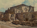 Paintings, Ralph Love (American, 1907-1992). Pueblo. Oil on canvas. 14 x 18 inches (35.6 x 45.7 cm). Signed lower left: Love. S...