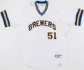"Baseball Collectibles:Uniforms, 2010 Trevor Hoffman Milwaukee Brewers Team Issued ""Turn Back TheClock"" Uniform...."
