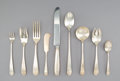 Silver Flatware, American, A One Hundred and Sixteen-Piece Schofield Bright-Cut SilverFlatware Service for Twelve, Baltimore, Maryland, early 2...