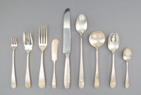 A One Hundred and Sixteen-Piece Schofield Bright-Cut Silver Flatware Service for Twelve, Baltimore, Maryland, early 20th...