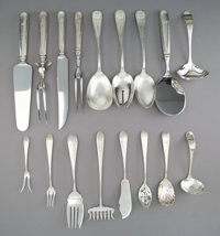 A Twenty-Piece Group of Schofield Silver Flatware Serving Pieces, Baltimore, Maryland, early 20th century Marks to bacon...