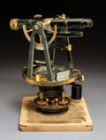 Other, A Buff & Buff Mfg. Co. No. 6504 Theodolite with Original Fitted Wood Case, Boston, late 19th-early 20th century...