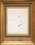 Other, An Original Letter Signed by Napoleon Bonaparte, April 19, 1808. Signed and dated to lower left. 8-7/8 x 7-1/4 inches (22.5 ...