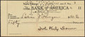 Autographs:Checks, 1928 John Philip Sousa Signed Check....