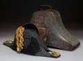Decorative Accessories, A Royal Australian Naval Officer's Hat by S.R. Gould & Sons in Original Metal Case, Devonport, Plymouth, England, circa 1900...