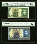 China Kwangtung Provincial Bank 20; 50 Cents 1935 Pick S2437s6 S/M#K56-32a; S2438s S/M#K56-33 Two Specimens PMG Superb G...