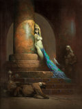 Original Comic Art:Paintings, Frank Frazetta Egyptian Queen Painting Original Art (1969)....