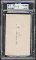 Autographs:Index Cards, Al Simmons Signed Index Card, PSA/DNA Authentic....